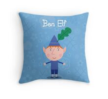 Ben Elf Throw Pillow