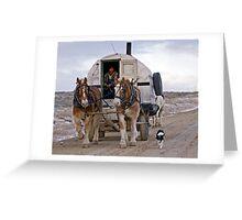 Sheep Wagon, Red Desert, Wy Greeting Card