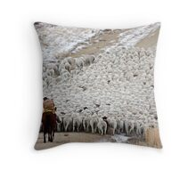 Wave of Sheep, Red Desert, Wyoming Throw Pillow
