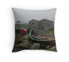 Low tide Peggy's Cove. Throw Pillow