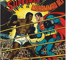 Comic Superman vs Muhammad Ali by zamora