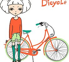 girl with bicycle by OlgaBerlet