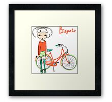 girl with bicycle Framed Print