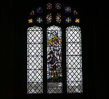 St Cybi's Church - Scouting Window by Allen Lucas