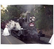 Puffing Billy the Wedding Train, Belgrave, Victoria Poster