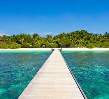 Postcard from the Maldives - Velidhu Atoll in the Indian Ocean by Digital Editor .