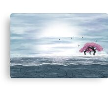 Fantasy landscape in blue and gray colors Canvas Print