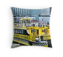 New York City Water Taxi Throw Pillow