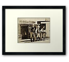 Which Way'd He Go? Framed Print