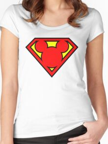 Super Mickey Women's Fitted Scoop T-Shirt