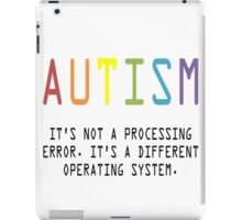 Autism. A Different Operating System iPad Case/Skin