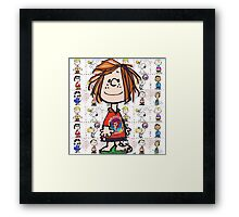 Peppermint patty  Framed Print