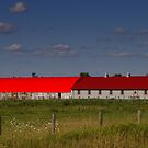 Here's a RED ROOF... by Larry Llewellyn