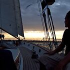 """""""I'm On A Boat! ...A Sailboat"""" - Newport Harbor Series - © 2009 by Jack McCabe"""