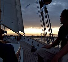 """I'm On A Boat! ...A Sailboat"" - Newport Harbor Series - © 2009 by Jack McCabe"