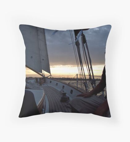 """""""I'm On A Boat! ...A Sailboat"""" - Newport Harbor Series - © 2009 Throw Pillow"""