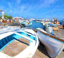 Boats Ashore on the Isle of Capri by garyguthrie