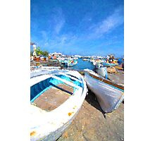 Boats Ashore on the Isle of Capri Photographic Print