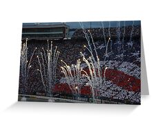 Bristol Nascar Pre-race festivities Greeting Card