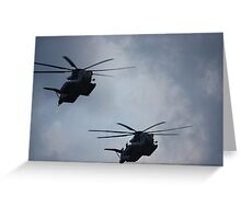 Pre-Race Show (Helicopters) Greeting Card