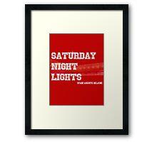 Saturday Night Lights Framed Print