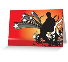 Rock out. by James Cattlett. Greeting Card