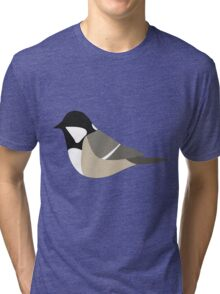 Coal Tit Bird / Periparus Ater Tri-blend T-Shirt