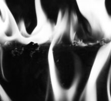 Black Flame Sticker