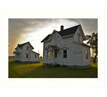 Two farm houses Art Print