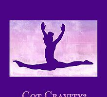 "The Gymnast ""Got Gravity?"" ~ Purple Version by Susan Werby"