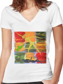 The 3 Forms Of Energy and The Danavi Women's Fitted V-Neck T-Shirt