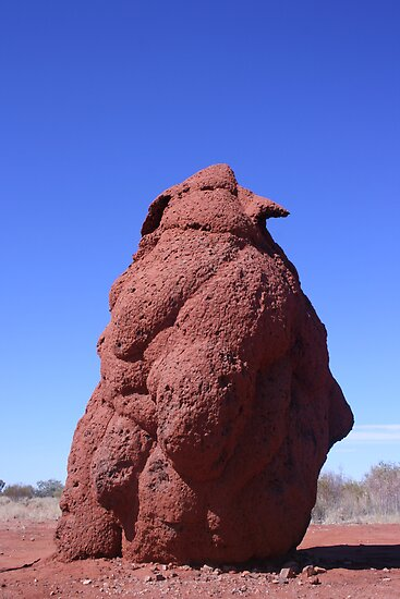 Termite mound impersonating a penguin... by A1000WORDS