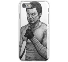 Dexter Morgan with knife iPhone Case/Skin