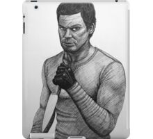 Dexter Morgan with knife iPad Case/Skin