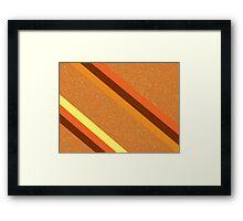 Amber Sparkle Framed Print