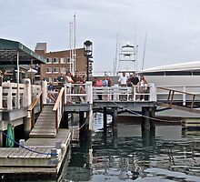 """""""Bannister's Wharf"""" - Newport Harbor Series - © 2009 by Jack McCabe"""