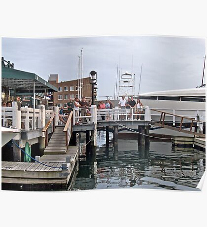 """""""Bannister's Wharf"""" - Newport Harbor Series - © 2009 Poster"""