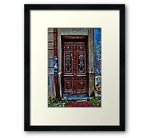 The Old Wooden Door Fine Art Print Framed Print