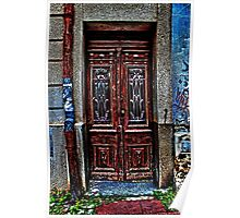 The Old Wooden Door Fine Art Print Poster