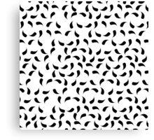 Black and White Modern Tear Drop Pattern Canvas Print