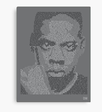 Jay-Z Lyric Portrait Canvas Print