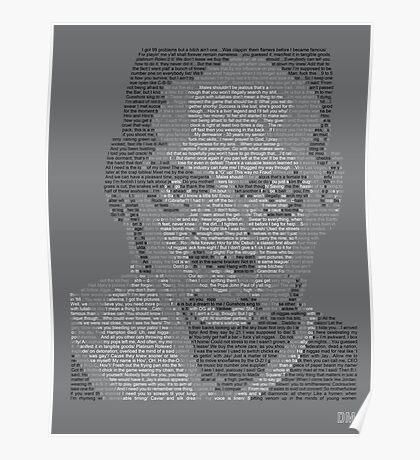 Jay-Z Lyric Portrait Poster