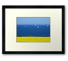 Spring at the Baltic Sea Framed Print