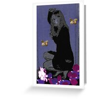 On Flower Petals Greeting Card