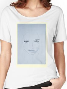 Portrait of a Lady - Azure Women's Relaxed Fit T-Shirt