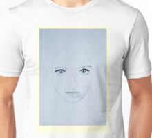 Portrait of a Lady - Azure Unisex T-Shirt