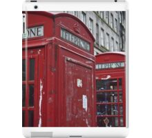 red phone booth iPad Case/Skin