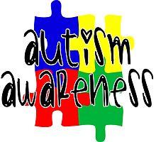 Autism Awareness Jigsaw Piece by TeeHunter