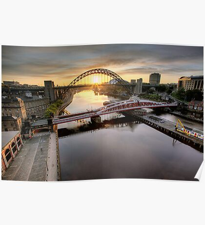 Sunrise on the Tyne Poster