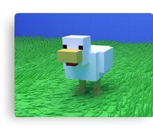 Quack Quack - Low Poly Chicken Canvas Print